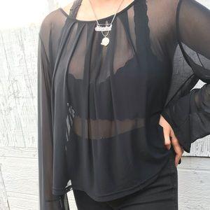 Sheer black long sleeve